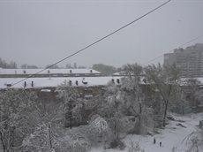 Днепропетровск 19 апреля 2017 год - снег